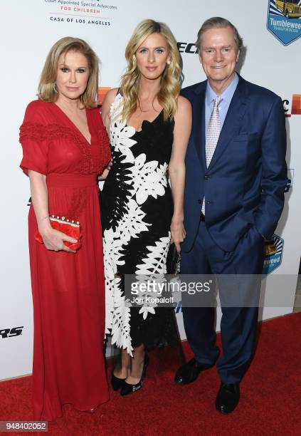 Kathy Hilton Nicky Hilton and Richard Hilton attend CASA Of Los Angeles' 2018 Evening To Foster Dreams Gala at The Beverly Hilton Hotel on April 18...