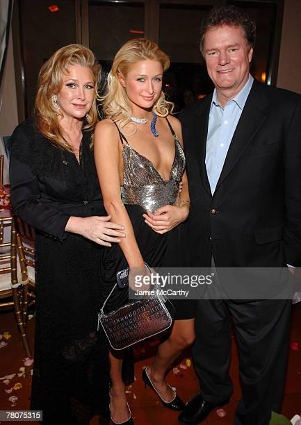 Kathy Hilton Paris Hilton and Rick Hilton at Paris Hilton Birthday Dinner at The Prime Grill Beverly Hills *EXCLUSIVE*