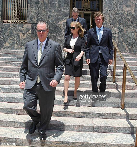 Kathy Hilton Richard Hilton and Conrad Hilton attend court for Conrad Hilton's sentencing after causing a disturbance aboard an international flight...