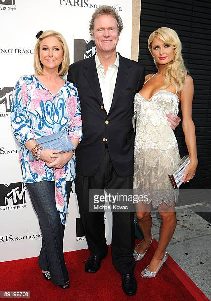 Kathy Hilton Rick Hilton and Actress Paris Hilton arrive at MTV's Paris Not France Los Angeles screening at Majestic Crest Theatre on July 22 2009 in...