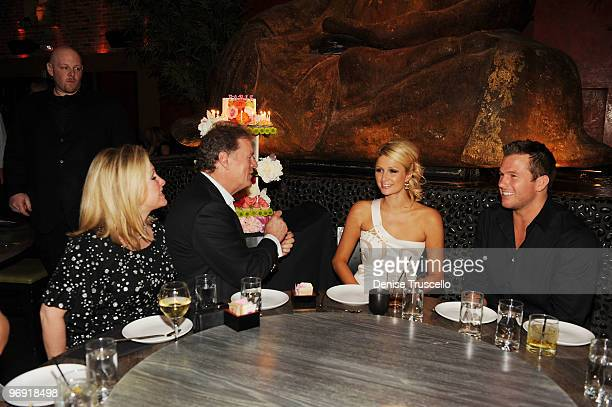 Kathy Hilton Rick Hilton Paris Hilton and Doug Reinhardt celebrate Paris' birthday atTAO restaurnat at the Venetian on February 20 2010 in Las Vegas...