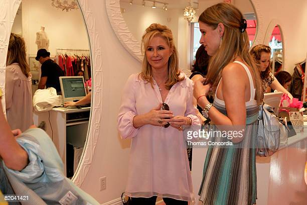 """Kathy Hilton shares an early Mother's Day brunch with Paris, Nicky, and the mother/daughter duo, Kelly and Katie Mills, winners of her """"My Secret""""..."""