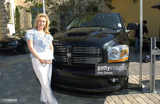 Kathy Hilton with Dodge RAM SRT10 Truck during Chrysler SRT Dodge SRT and MOPAR Vehicles at 'House of Hype' Day Two at Private Residence in Beverly...