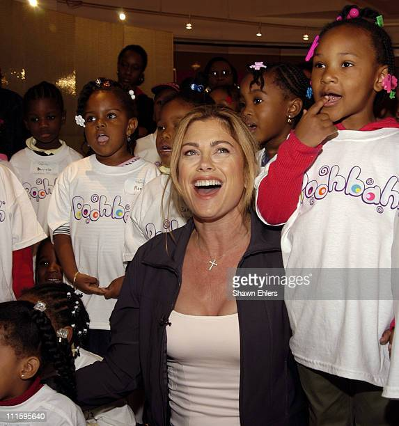 Kathy Ireland and children from Friends of Crown Heights Day Care Center