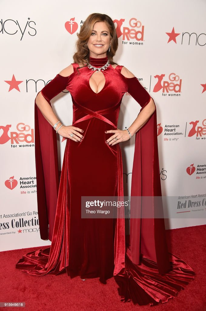 Kathy Ireland attends the American Heart Association's Go Red For Women Red Dress Collection 2018 presented by Macy's at Hammerstein Ballroom on February 8, 2018 in New York City.