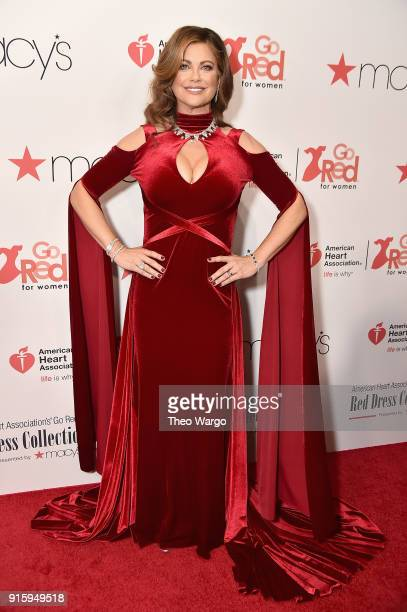 Kathy Ireland attends the American Heart Association's Go Red For Women Red Dress Collection 2018 presented by Macy's at Hammerstein Ballroom on...