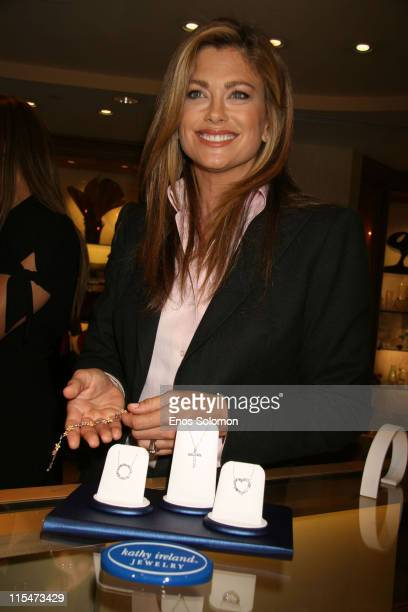 Kathy Ireland during Kathy Ireland Debuts her New Line of House of Taylor Jewelry at Geary's in Beverly Hills, California, United States.