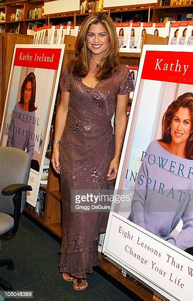 Kathy Ireland during Kathy Ireland Signs Copies Of Her New Book 'Powerful Inspirations Eight Lessons That Will Change Your Life' at Brentano's...