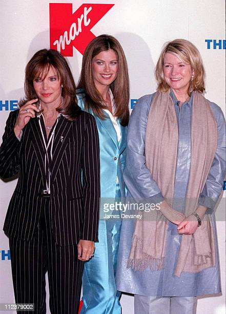 Kathy Ireland Jaclyn Smith and Martha Stewart during Retail Giant Kmart relaunches it's BlueLight Special at Astor Place Kmart in New York City New...