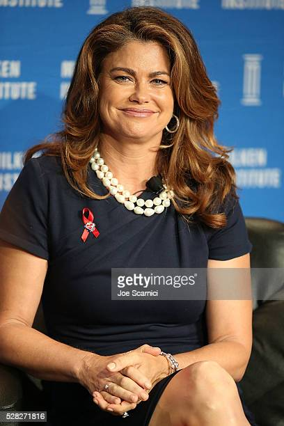 Kathy Ireland speaks onstage at the 2016 Milken Institute Global Conference on May 04 2016 in Beverly Hills California