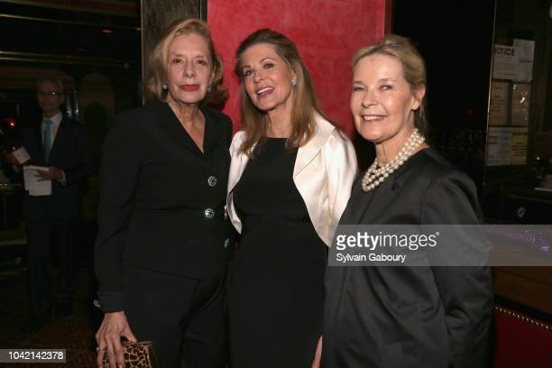 Kathy Irwin Kari Tiedemann and Mona Arnold attend David Patrick Columbia And Chris Meigher Toast The QUEST 400 At DOUBLES on September 27 2018 in New...