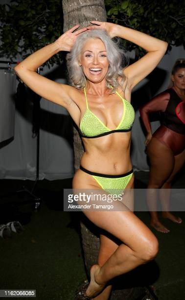 Kathy Jacobs attends the 2019 Sports Illustrated Swimsuit Runway Show During Miami Swim Week At W South Beach Front Row/Backstage at WET poolside...