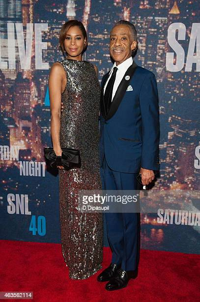 Kathy Jordan and Al Sharpton attend the SNL 40th Anniversary Celebration at Rockefeller Plaza on February 15 2015 in New York City