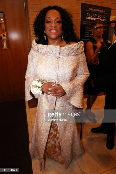Kathy Jordan Sharpton attends Dominique Sharpton And Dr Marcus Bright's wedding ceremony on October 15 2017 in New York City