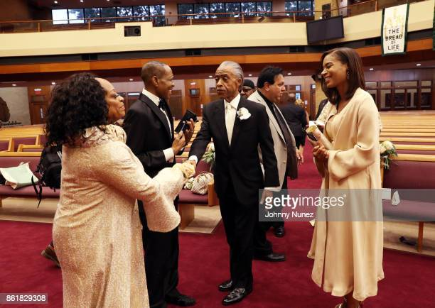 Kathy Jordan Sharpton Freddie Jackson Rev Al Sharpton and Aisha McShaw attend Dominique Sharpton And Dr Marcus Bright's wedding ceremony on October...