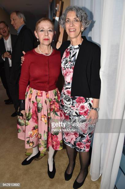 Kathy Kaplan and Darlene Kaplan attend the Spring Party to benefit Aperture and to celebrate The Photographer in the Garden at Public Hotel on April...