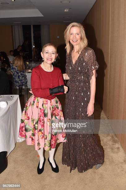 Kathy Kaplan and Kate Cordsen attend the Spring Party to benefit Aperture and to celebrate The Photographer in the Garden at Public Hotel on April 6...