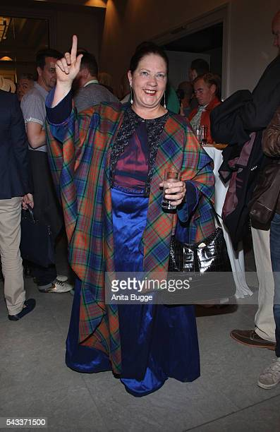 Kathy Kelly attends the fashion staging of the fairy tale 'Die zertanzten Schuhe' by Harald Gloeoeckler at Hotel de Rome on June 27 2016 in Berlin...