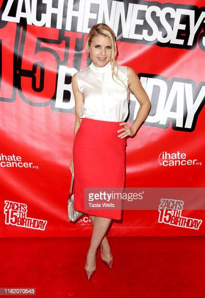 Kathy Kolla attends Zach Hennessey's 15th Birthday Party In Support Of iIHateCancerorg at The Industry Loft Space on July 14 2019 in Hollywood...