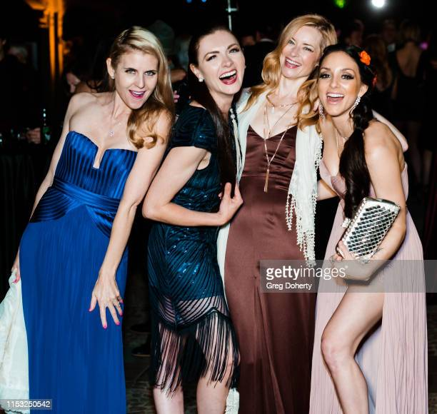 "Kathy Kolla, Chantelle Albers, Jessica Morris and Rachele Royale attend Brooke & Mark's Marriage Soiree ""The Magic Of Hollywood"" Houdini Estate on..."