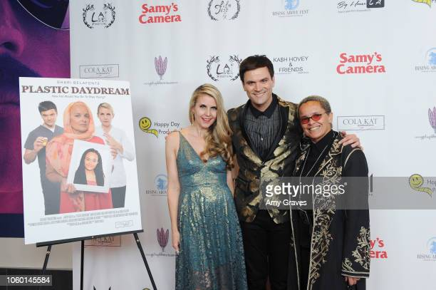 Kathy Kolla Shari Belafonte and Kash Hovey attend Kash Hovey Friends Presented By Film Fest LA Big House LA at Regal Cinemas LA LIVE Stadium 14 on...