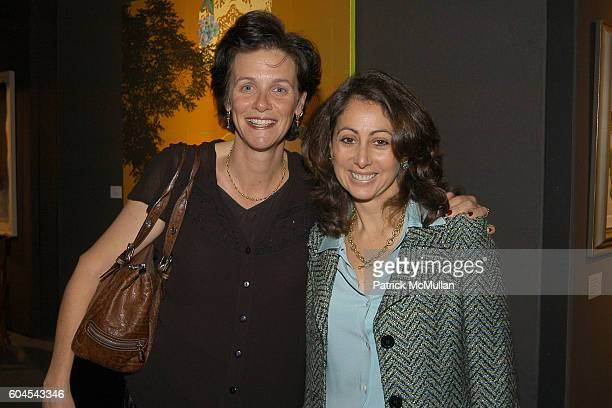 Kathy Kramer and Donna Zaccaro attend Planned Parenthood Art 20 Preview Gala at Park Ave Armory on November 9 2006 in New York City