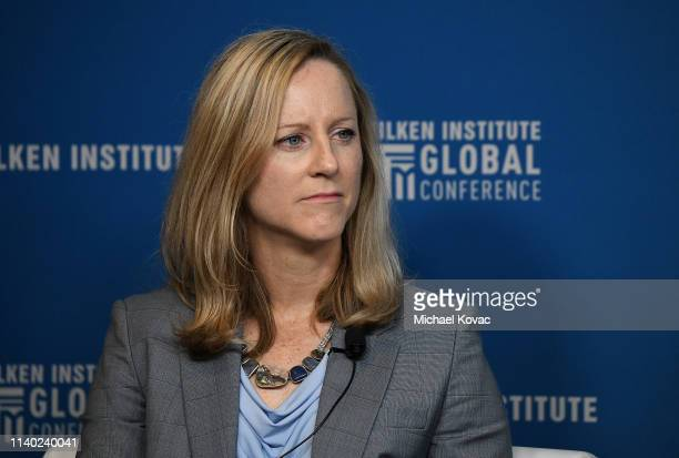 Kathy Kraninger Director Consumer Financial Protection Bureau participates in a panel discussion during the annual Milken Institute Global Conference...
