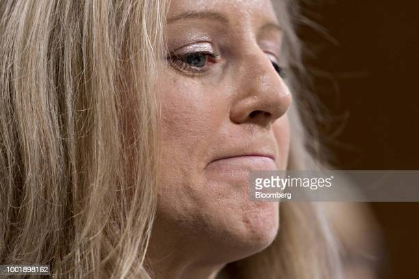 Kathy Kraninger director of the Consumer Financial Protection Bureau nominee for US President Donald Trump listens during a Senate Banking Committee...