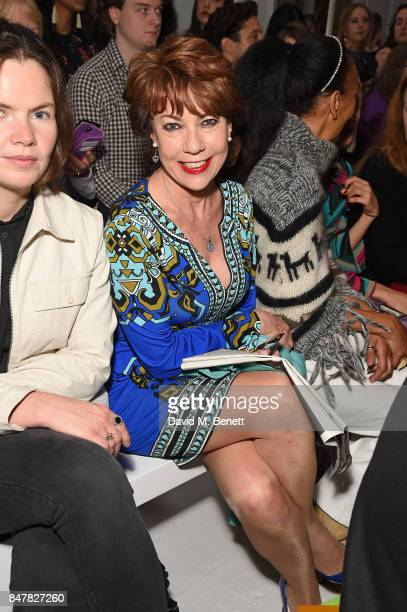 Kathy Lette attends the Jasper Conran SS18 catwalk show during London Fashion Week September 2017 on September 16 2017 in London United Kingdom