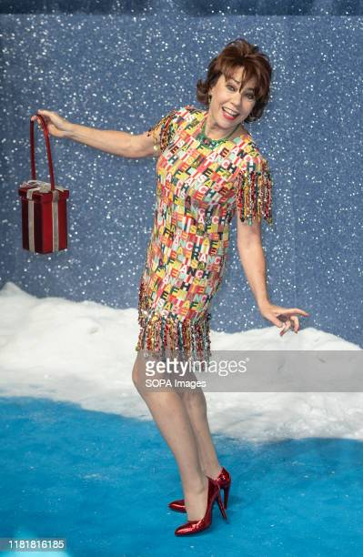 Kathy Lette attends the Last Christmas Premiere at the BFI Southbank in London.