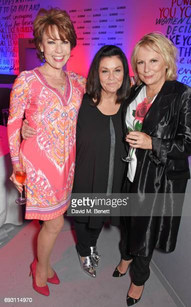 Kathy Lette Dawn French and Jennifer Saunders attend the Glamour Women of The Year Awards 2017 in Berkeley Square Gardens on June 6 2017 in London...