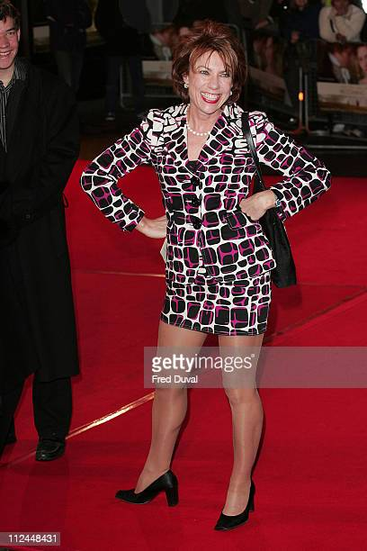 """Kathy Lette during """"Becoming Jane"""" London Premiere - Arrivals at Odeon West End in London, Great Britain."""
