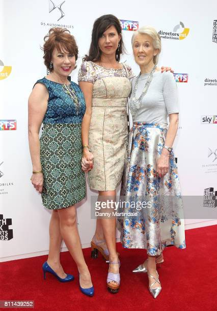 Kathy Lette Ronni Ancona and Joanna Trollope attending The Southbank Sky Arts Awards 2017 at The Savoy Hotel on July 9 2017 in London England