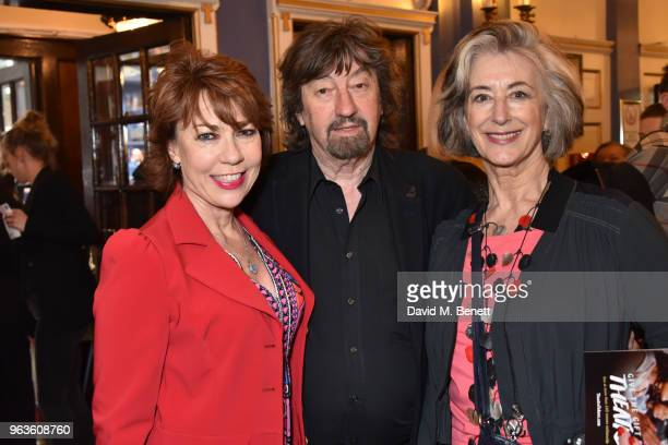Kathy Lette Sir Trevor Nunn and Maureen Lipman arrive at the press night performance of 'Consent' at the Harold Pinter Theatre on May 29 2018 in...