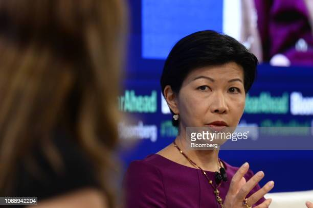 Kathy Matsui chief Japan strategist at Goldman Sachs Group Inc speaks during the Bloomberg Year Ahead summit in Tokyo Japan on Thursday Dec 6 2018...