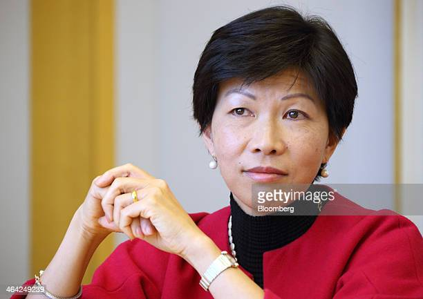 Kathy Matsui chief Japan strategist of Goldman Sachs Group Inc listens during an interview in Tokyo Japan on Wednesday Dec 18 2013 Matsui arrived 24...