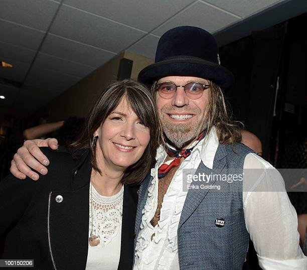 Kathy Mattea and Big Kenny backstage during the Music Saves Mountains benefit concert at the Ryman Auditorium on May 19 2010 in Nashville Tennessee