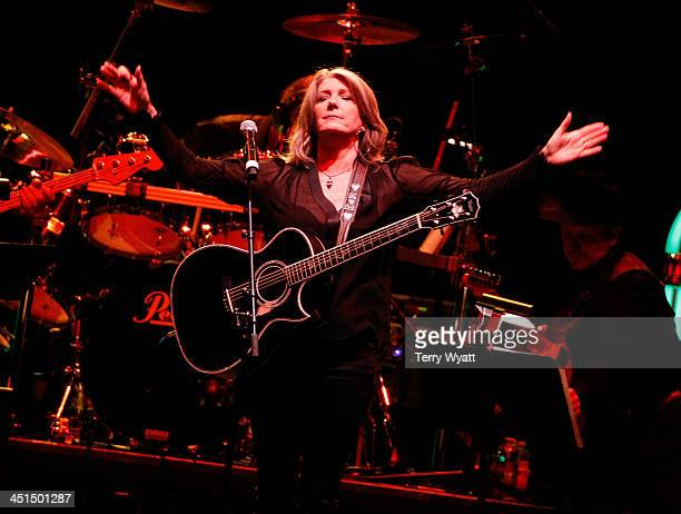 Kathy Mattea performs during Playin' Possum The Final No Show Tribute To George Jones Show at Bridgestone Arena on November 22 2013 in Nashville...