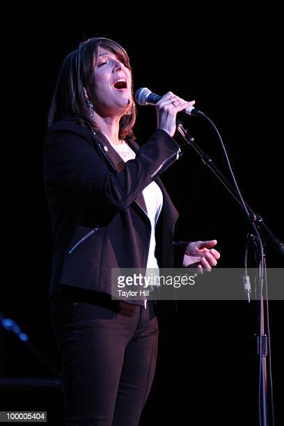 Kathy Mattea performs during the Music Saves Mountains benefit concert at the Ryman Auditorium on May 19 2010 in Nashville Tennessee