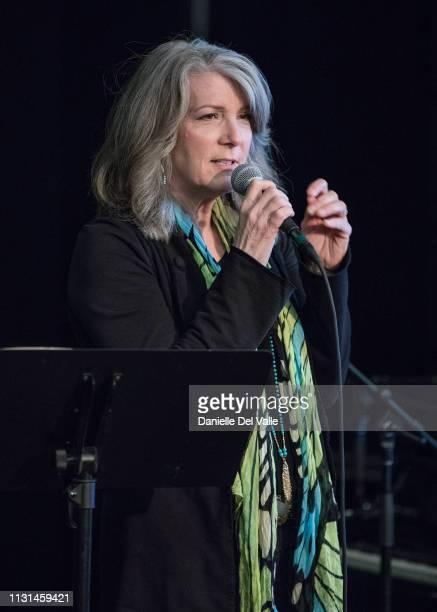 Kathy Mattea speaks to Berklee students at Warner Music Nashville on March 18 2019 in Nashville Tennessee