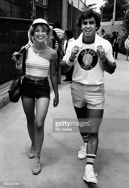Kathy McCullen and Bill Chafin attend the taping of Third Annual ProCelebrity Tennis Classic on June 25 1977 at the Billie Jean King Tennis Center in...
