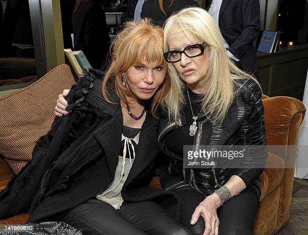 Kathy Melson Director Penelope Spheeris attend the HFPA's Golden Globe Awards Theme Song Listening Party with Yoshiki on March 23 2012 in West...