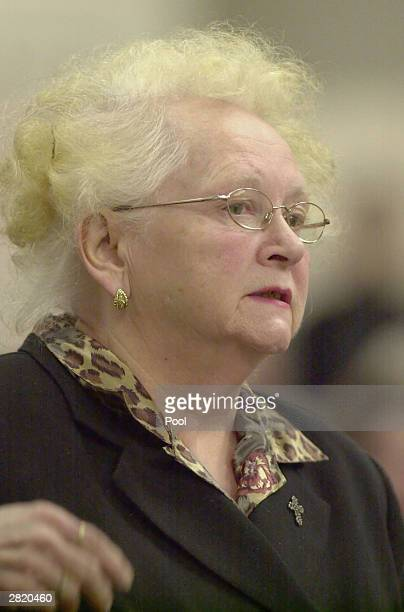 Kathy Mill mother of Green River Killer victim Opal Mills addresses the court during the sentencing of Gary Ridgway December18 2003 in Seattle...