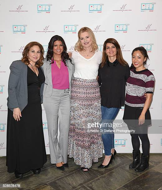 Kathy Najimy Andrea Navedo Geena Davis Nia Vardalos and Constance Wu attend Geena Davis' 2nd Annual Bentonville Film Festival Championing Women And...