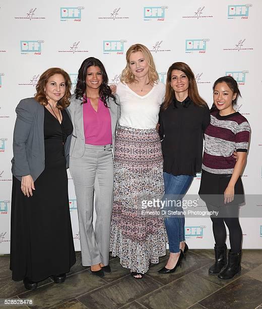 Kathy Najimy Andrea Navedo Geena Davis Nia Vardalos and Constance Wu attend Geena Davis' 2nd Annual Bentonville Film Festival Championing Women And...