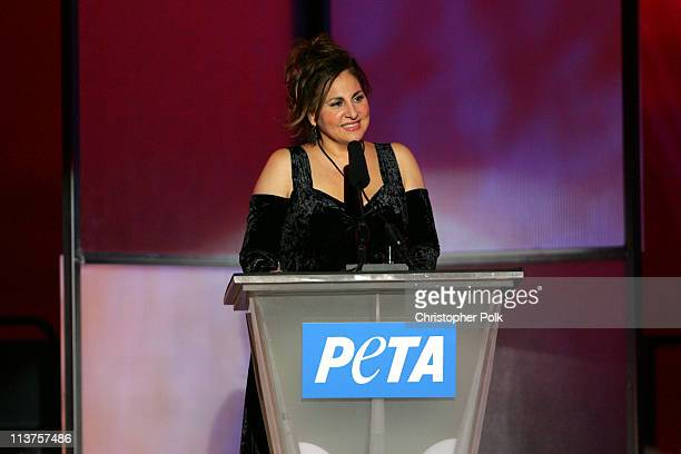 Kathy Najimy during 25th Anniversary Gala for PETA and Humanitarian Awards Show Presentation at Paramount Pictures in Hollywood California United...