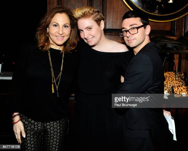 Kathy Najimy Lena Dunham and Christian Siriano attend the Party for the 2nd Anniversary of Lenny at The Jane Hotel on September 15 2017 in New York...