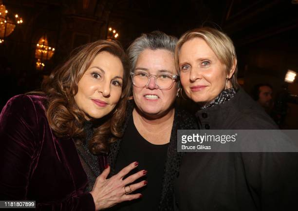 Kathy Najimy Rosie O'Donnell and Cynthia Nixon pose at the opening night of the new play The Sound Inside on Broadway at Studio 54 Theatre on October...