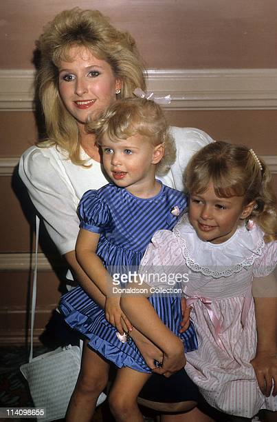 Kathy Nicky and Paris Hilton pose for a portrait in c1985 in Los Angeles California