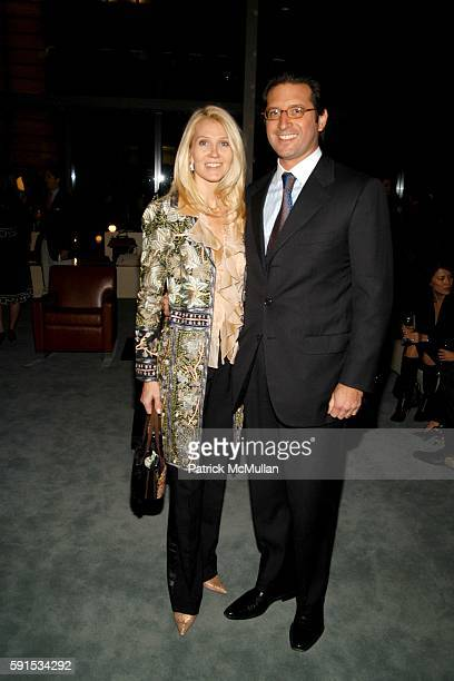 Kathy Prounis and Othon Prounis attend JeanMarc Loubier President CEO of CELINE hosts cocktails to honor the Associates Committee Lenox Hill...